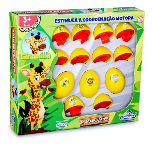Girafa Giramille Quebra Cabeça Infantil Bebê Educativo