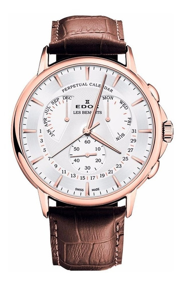 Reloj Edox Les Bemonts Con Calendario 0160237rair Ghiberti