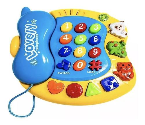 Telefono Juguete Con Sonidos Y Melodias Para Bebé
