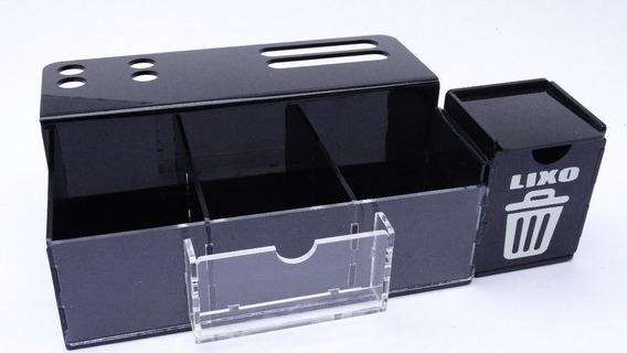 Porta Bala Black Uber C/ Porta Cartão + Lixeira