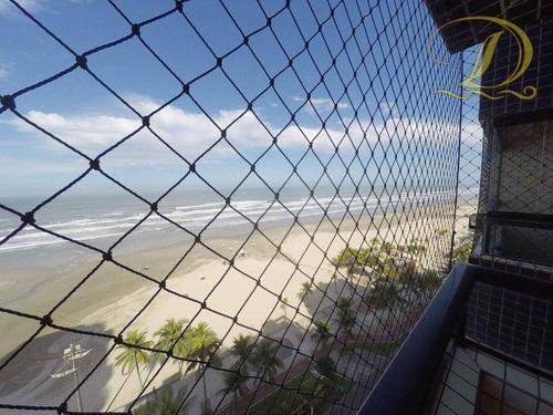 Imagem 1 de 28 de Apartamento De 2 Quartos Frente Ao Mar À Venda Em Praia Grande Com Sacada E Piscina!!! - Ap4549