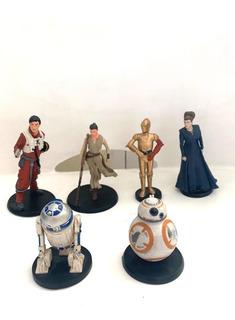 Kit Star Wars 6 Figuras Disney De Coleccion