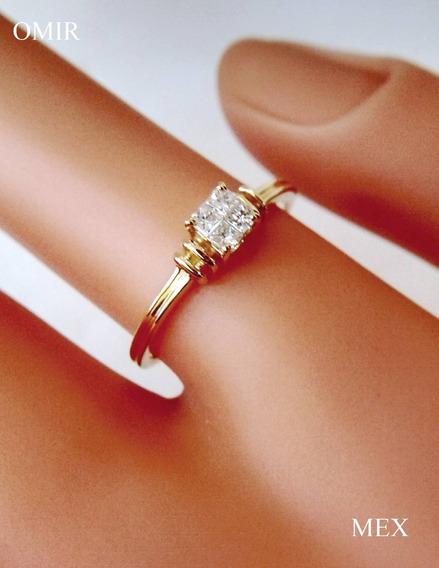 Anillo Diamantes Oro 14k Compromiso Video
