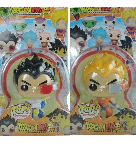 Funko Pop Goku E Vegeta 2pçs Action Figure