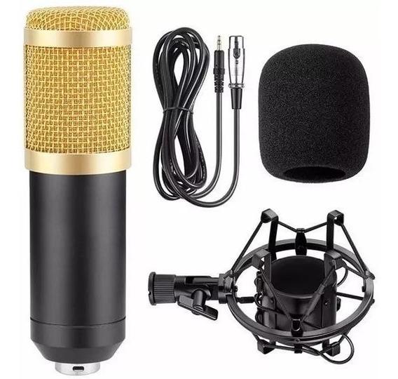 Microfone Estúdio Profissional Condensador Andowl Bm-800