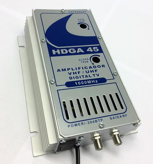 Amplificador 45db 1ghz Para Tv Digital Hdtv Hdga-45
