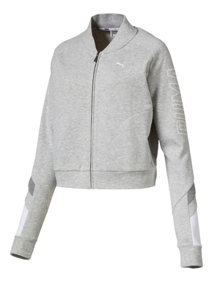 Puma Campera Lifestyle Mujer Athletics Bomber Gris