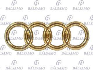 Imagen 1 de 1 de Emblema Baul -oooo- Audi    Dorado-chico - I3636