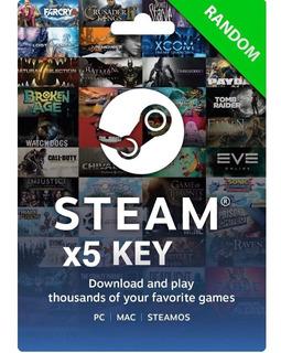 5 X Steam Keys Premium Random - Juegos Muy Buenos Al Azar