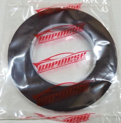 Cinta Bifaz Espumosa Negra Doble Adhesivo 8mm X 10 Mts