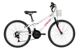 Bicicleta Infanto Juvenil Caloi Ceci Aro 24 - 21 Vel Branco