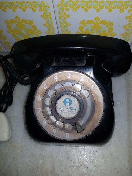 Antiguo Teléfono De Baquelita Disco Entel Standard Electric
