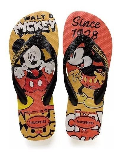 Sandália Havaianas Disney Stylish - Mickey (mostarda)