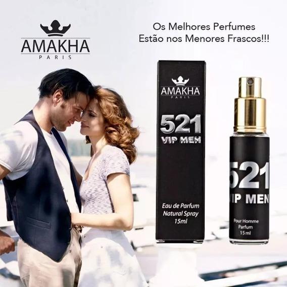 Perfume Masculino Amakha Paris 521 Vip Men 212 Vip