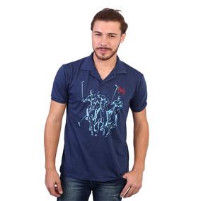 Camisa Polo England Polo Club Estampada Tacos Marinho