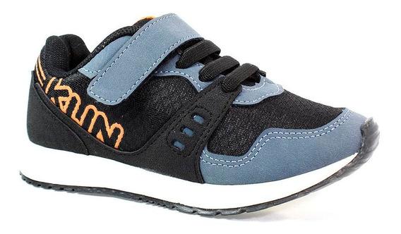 Tênis Klin Walk Menino Preto E Azul
