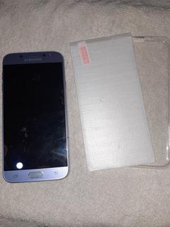 Samsung Galaxy J7 Pro 64g Com Tela Quebrada + Cap, Pel.