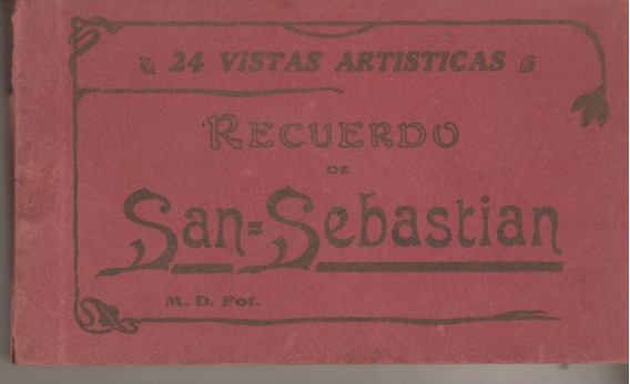 Antiguo Libro De 24 Postales * San Sebastian * España
