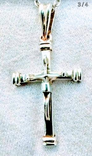 Cadena Con Cruz De Plata 925