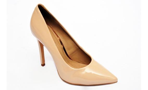 Scarpin Bico Fico E Salto Alto Sapato Scarpin Conforto Luxo