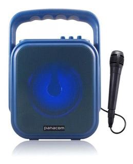 Parlante Panacom Portatil Bt Manija Azul 30 Watts Sp3048cm