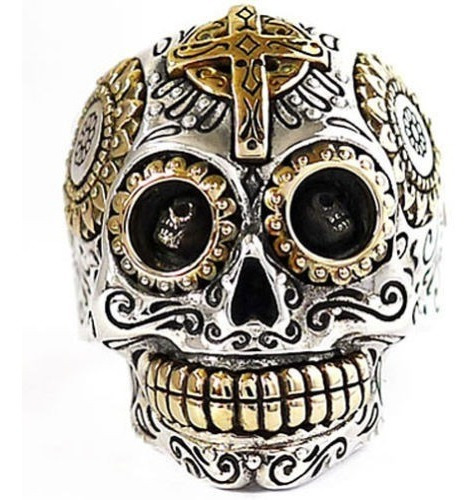 Grande 32 Gramos Anillo Esqueleto Calavera Mexicana