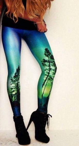 Leggings/calza Simil Blackmilk - Aurora Green