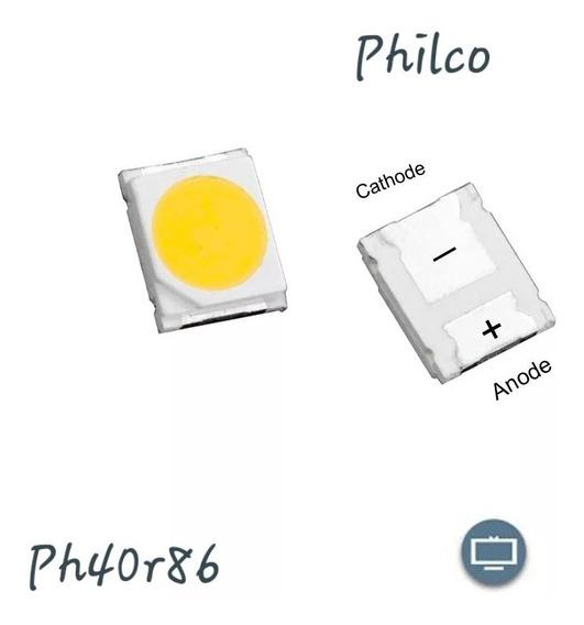 50x Led Philco 6v Tv Ph40r86dsgw Barra Com 5 Leds
