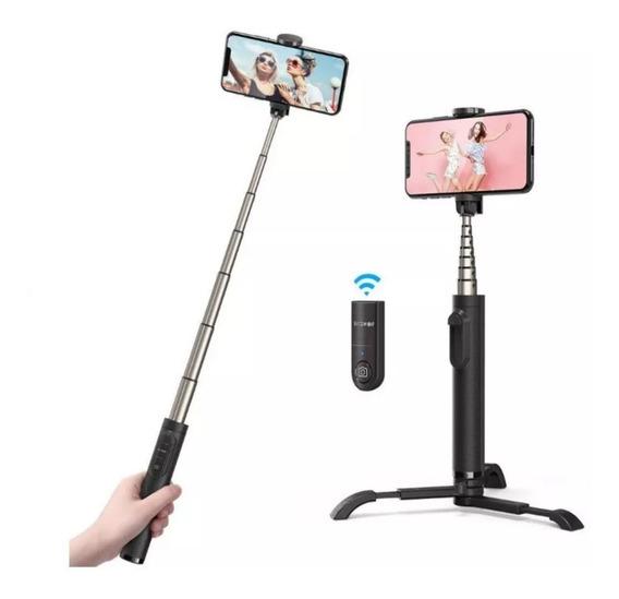 Pau De Selfie Tripé Blitzwolf Bw-bs9 Com Controle Bluetooth