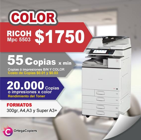 Copiadora Impresora A Color Ricoh Mpc5503