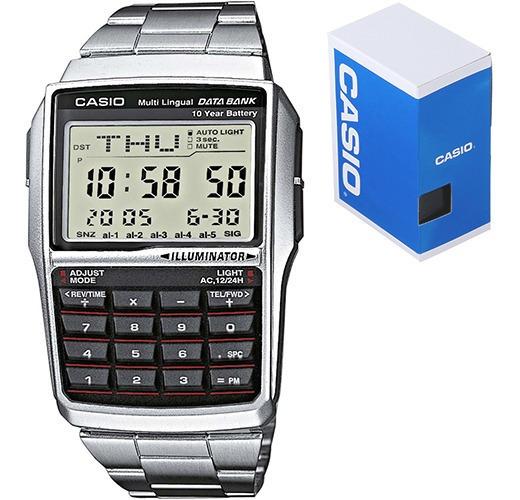 Reloj Clasico Casio Retro Vintage Dbc32 Acero Inoxidable Calculadora Luz Ambar