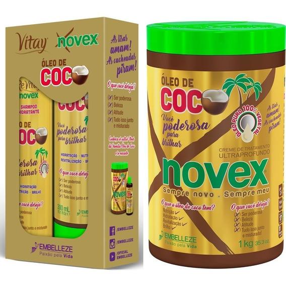 Oleo De Coco Novex Shampoo Condicionador E Máscara