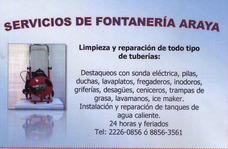 Servicio Fontanería Araya
