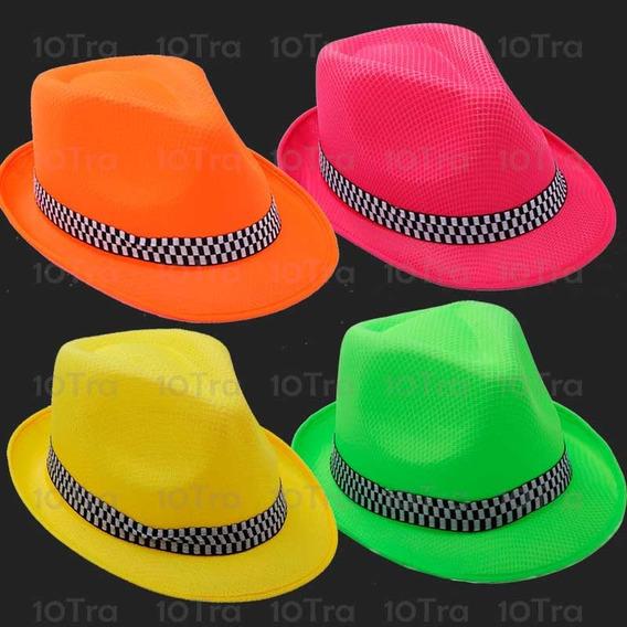 Gorro Sombreros Tanguero Fluo Jazz Fiesta Cumpleaños Cotillo