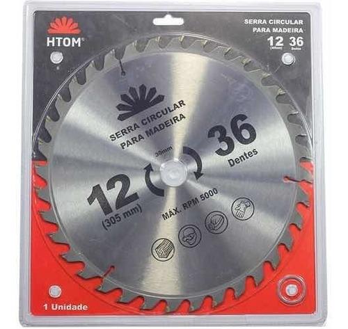 Disco Serra Circular 12 305mm 36 Dentes Htom Madeira