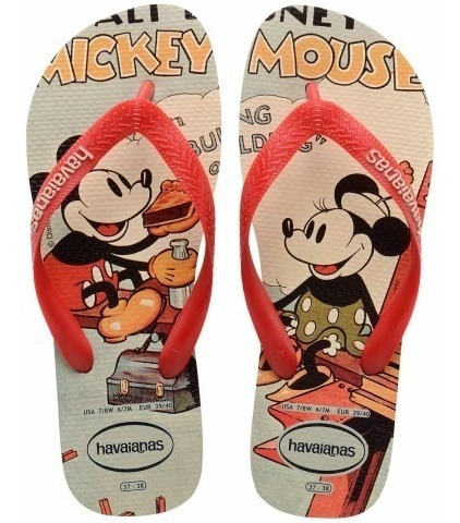 Ojotas Disney Mickey Minnie Havaianas Originales Mundomanias