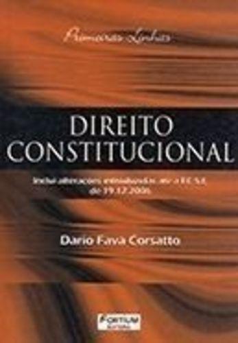Livro Direito Constitucional - Corsatto Dario Fava Corsatto