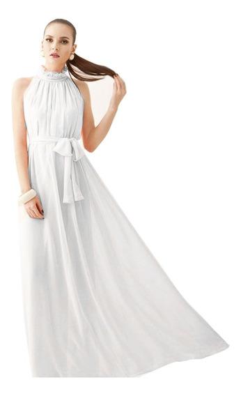 Vestido Importado De Fiesta Largo De Gasa Amplios Sueltos