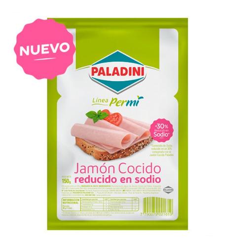 Jamón Cocido Bajo Sodio En Feta Paladini X 150gr