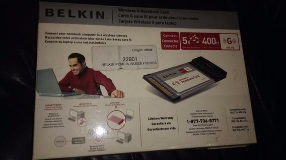 Tarjeta Belkin Wifi Pcmcia G 54 Mbps/ Notebook