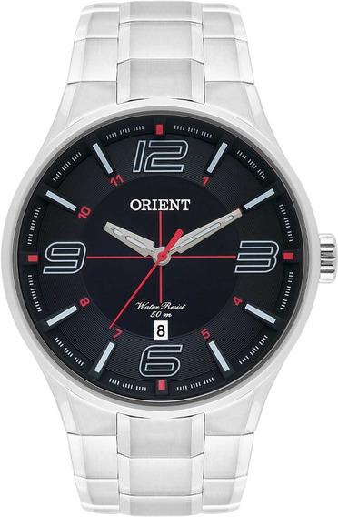 Relógio Orient Masculino Prata Mbss1306 P2sx Calendário