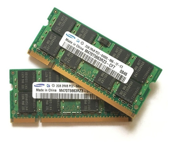 Kit 4 Gb Memória Notebook Samsung 2x2gb Ddr2 Pc2-6400s-666