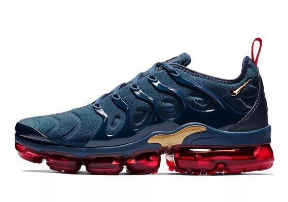 Tênis Nike Air Vapormax Plus, Azul Escuro E Vermelho 2019