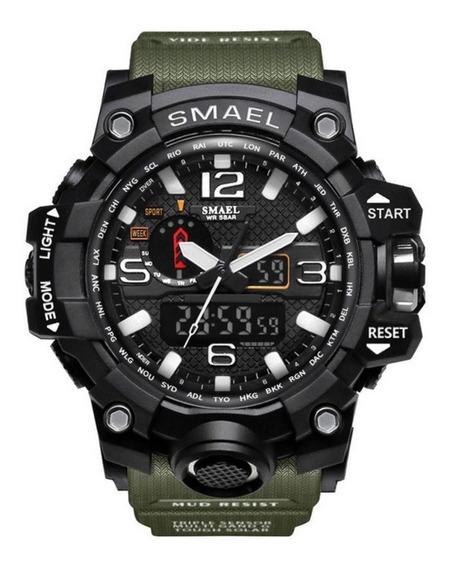 Relógio Masculino Esportivo Verde Militar Frete Grátis Top