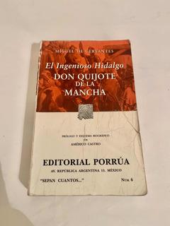 Libro El Ingenioso Hidalgo Don Quijote De La Mancha.