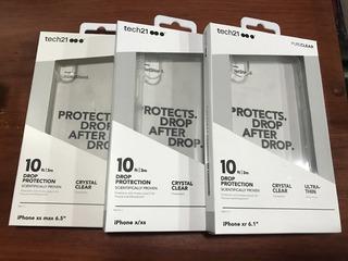 Funda Case Contra Caidas iPhone X Xs Max Xr Tech21 Pureclear