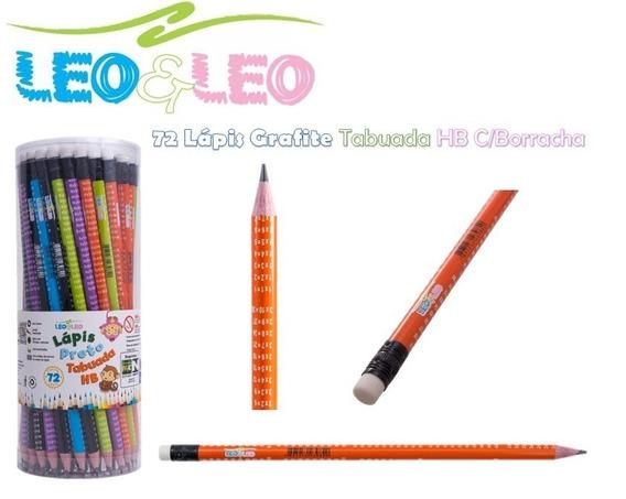 Kit 72 Lápis Preto Com Borracha Poá Ótimo Preço Leo E Leo
