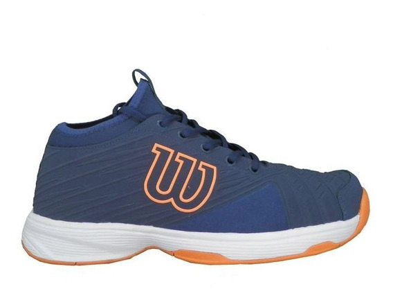 Tênis Wilson Pro Open Masculino Azul E Laranja Neon
