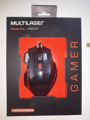 Mouse Gamer Multilaser 2400 Dpi Usb Mo236 + Nfe