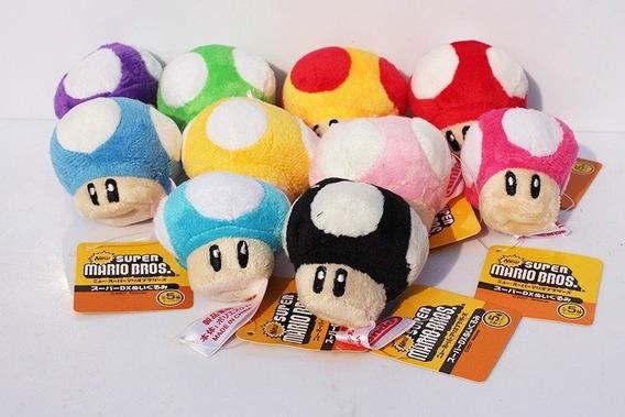 Boneco Pelúcia Cogumelos Super Mario Nintendo Original